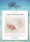 Blackwork and Cross Stitch Design: Great Barrier Reef
