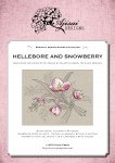 Cross Stitch and Blackwork Design: Hellebore and Snowberry