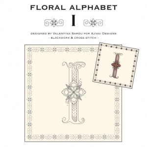 Blackwork & Cross Stitch Designs: Floral Alphabet – I