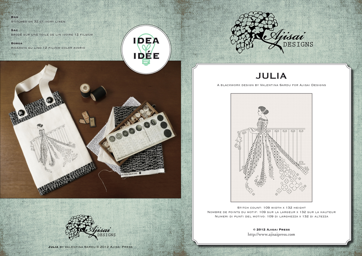 JULIA - blackwork chart by ajisai designs
