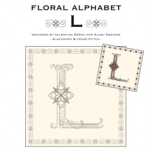 Blackwork & Cross Stitch Designs: Floral Alphabet – L