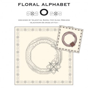 Blackwork & Cross Stitch Designs: Floral Alphabet – O