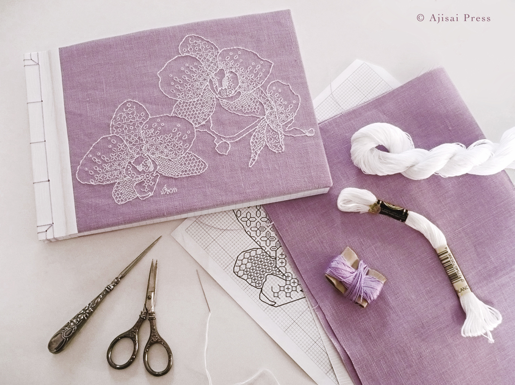 blackwork design - orchids - LILAC2
