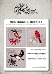 Cross Stitch and Blackwork Designs: Red Birds & Berries
