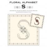 Blackwork & Cross Stitch Designs: Floral Alphabet – S