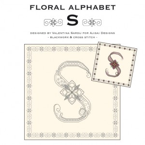 Blackwork & Cross Stitch Designs: Floral Alphabet – S