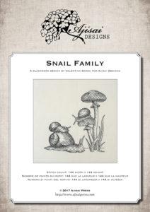 Blackwork Design: Snail Family