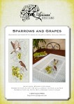 Cross Stitch and Blackwork Design: Sparrows and Grapes