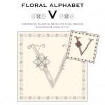Blackwork & Cross Stitch Designs: Floral Alphabet – V