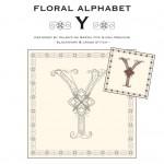 Blackwork & Cross Stitch Designs: Floral Alphabet – Y