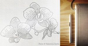 Birth of a design: Blackwork orchids