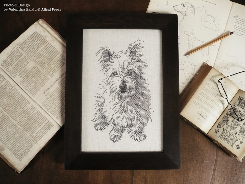 blackwork dog 2