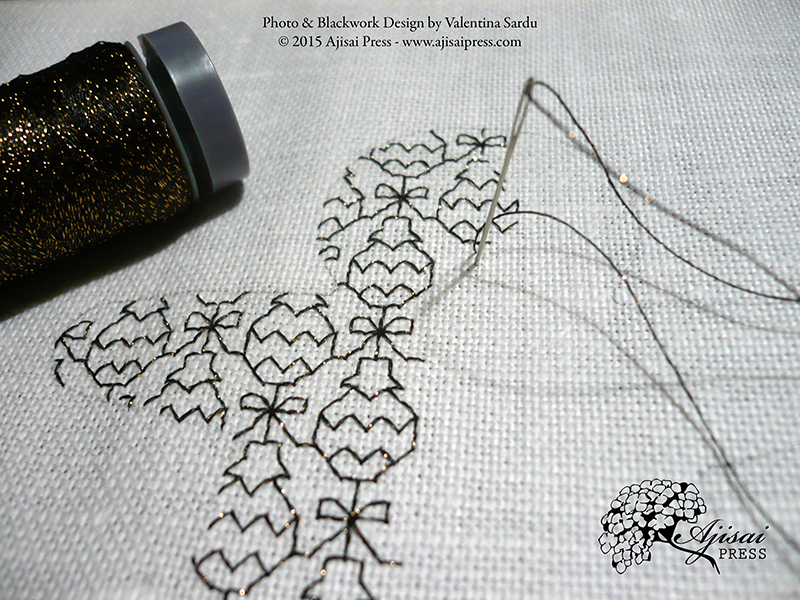 How To Create A Blackwork Embroidery Using Cookie Cutters (plus A Free Fill-in Pattern For Your ...