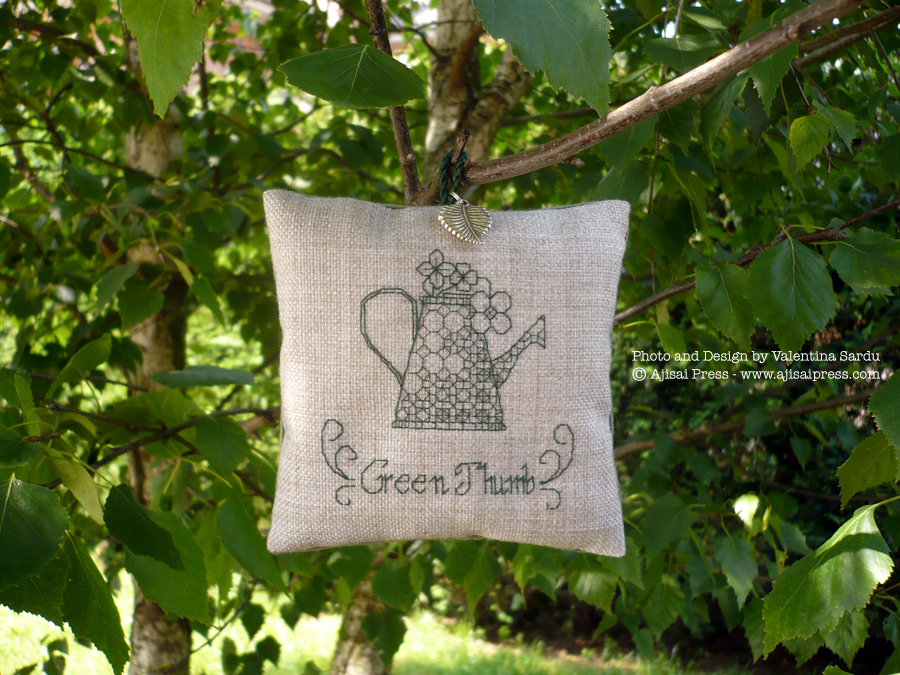 blackwork motif scented cushions