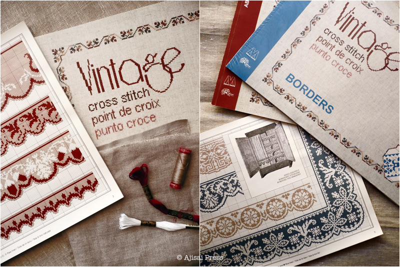 vintage cross stitch borders by Ajisai - scalloped borders