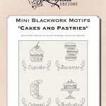 Mini Blackwork Motifs: Cakes and Pastries