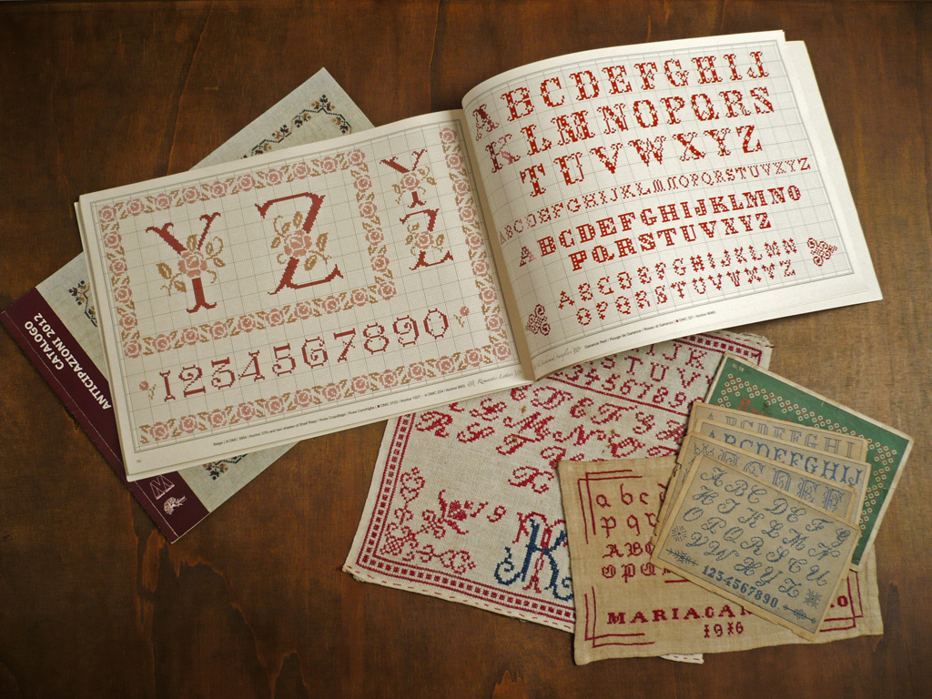 Vintage Cross Stitch alphabets