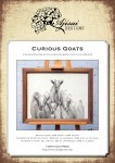 Blackwork Design: Curious Goats