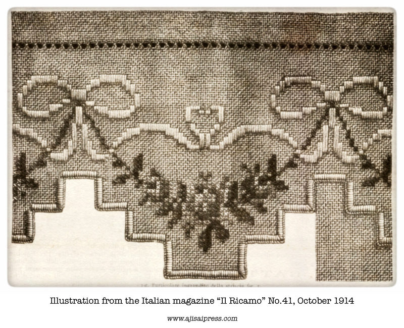 """Scalloped border from """"Il ricamo"""" October 1914"""