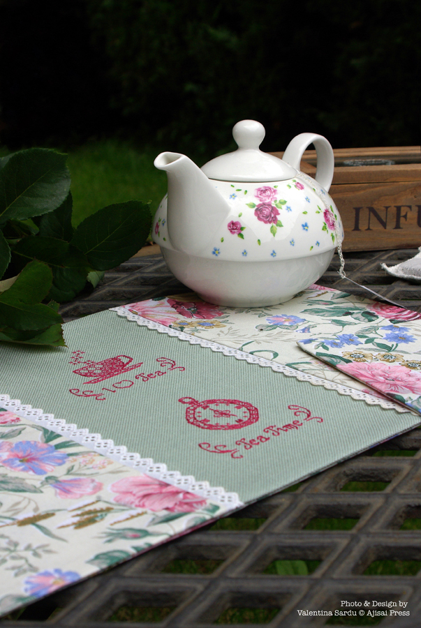 tea placemats - blackwork motifs - 3