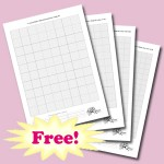 Blank cross stitch grids