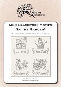 Mini Blackwork Motifs: In the Garden