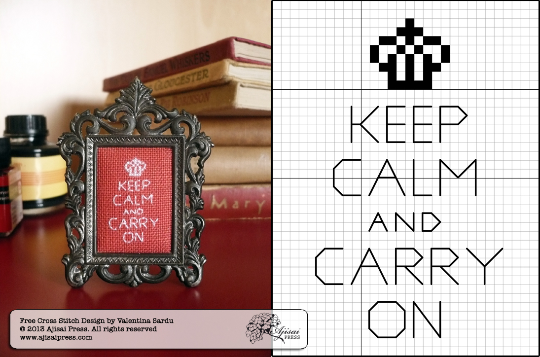 keep calm free cross stitch chart