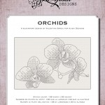 Blackwork Design: Orchids
