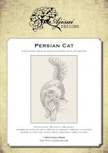 Blackwork Design: Persian Cat