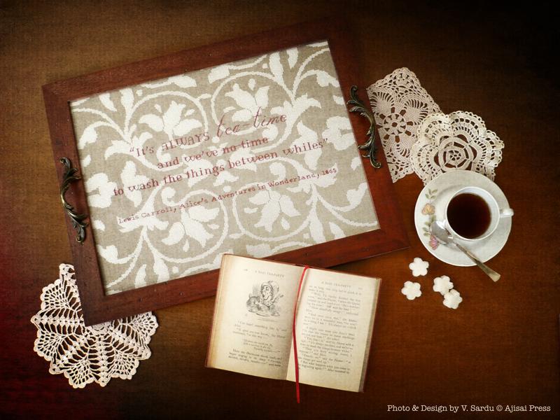 Alice in wonderland - cushion - ajisai designs