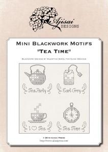Mini Blackwork Motifs: Tea Time