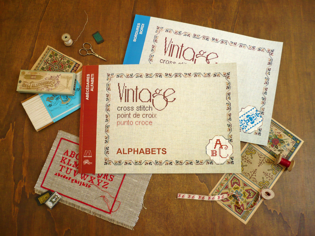 vintage cross stitch alphabets and borders