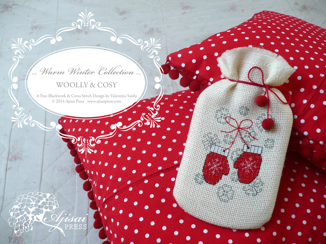 woolly cosy a free cross stitch pattern from the warm winter
